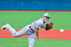 Cortland Crush Andrew Cartier (23) on the mound against the Syracuse Junior Chiefs in Syracuse, New York on Thursday June 2, 2016. Cortland won 6-0.