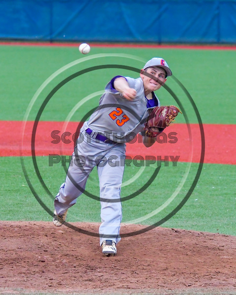Cortland Crush Andrew Cartier (23) pitching against the Syracuse Junior Chiefs in Syracuse, New York on Thursday June 2, 2016. Cortland won 6-0.