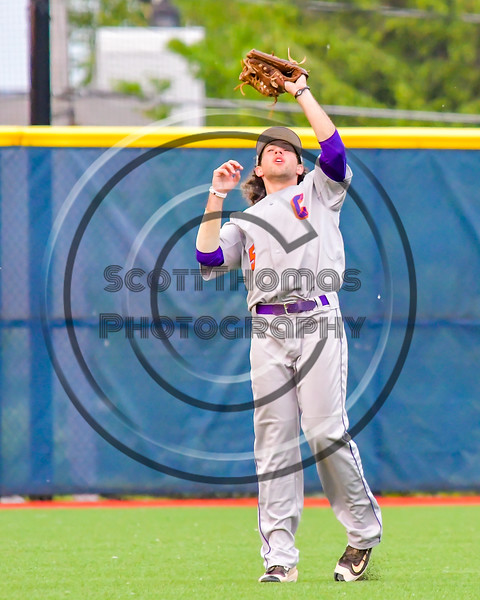 Cortland Crush Luke Gilbert (5) snags a fly ball for an out against the Syracuse Junior Chiefs in Syracuse, New York on Thursday June 2, 2016. Cortland won 6-0.