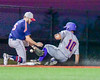 Cortland Crush Paul Ludden (10) slides into Third Base safe against the Syracuse Junior Chiefs in Syracuse, New York on Thursday June 2, 2016. Cortland won 6-0.