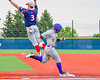 Cortland Crush David Murphy (8) makes it to First Base against the Syracuse Junior Chiefs in Syracuse, New York on Thursday June 2, 2016. Cortland won 6-0.