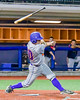 Cortland Crush Paul Ludden (10) has the bat slip out of his hands during a game against the Syracuse Junior Chiefs in Syracuse, New York on Thursday June 2, 2016. Cortland won 6-0.