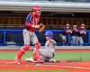 Cortland Crush Anthony Searles (2) scores a run on the sacrifce bunt by Josua Lopez (21, not in picture) against the Syracuse Junior Chiefs in Syracuse, New York on Thursday June 2, 2016. Cortland won 6-0.