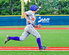 Cortland Crush Paul Ludden (10) runs up the line to First Base against the Syracuse Junior Chiefs in Syracuse, New York on Thursday June 2, 2016. Cortland won 6-0.