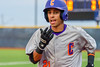 Cortland Crush Josua Lopez (21) jogs back to the dugout after he executed a sacrifce bunt to score a run against the Syracuse Junior Chiefs in Syracuse, New York on Thursday June 2, 2016. Cortland won 6-0.
