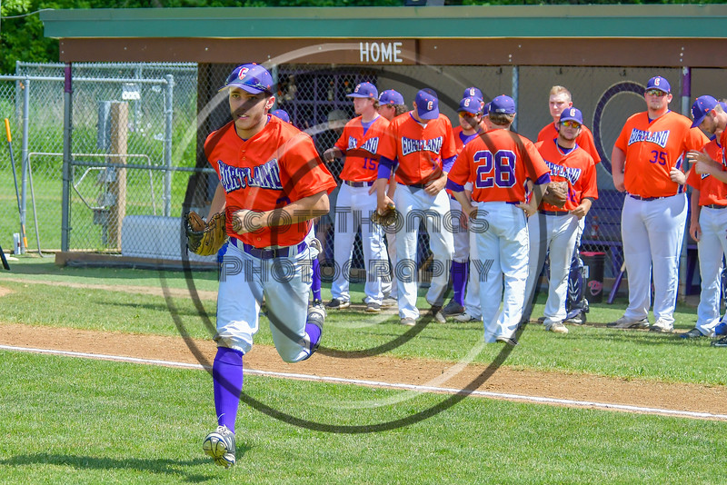 Cortland Crush Broderick Santilli (3) takes the field before playing the Rome Generals on Greg's Field at Beaudry Park in Cortland, New York on Saturday June 4, 2016.