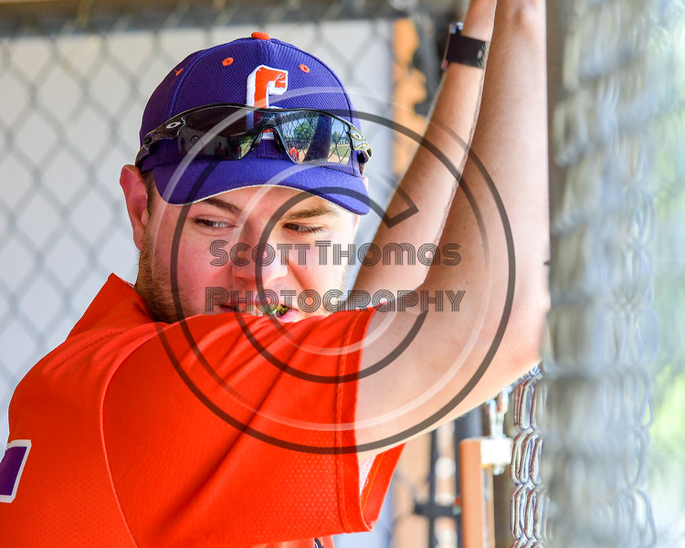Cortland Crush George Haaland (34) watching the Rome Generals warm up before playing a game on Greg's Field at Beaudry Park in Cortland, New York on Saturday June 4, 2016.