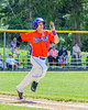 Cortland Crush Joey Assenza (4) running up the First Base line against the Rome Generals on Greg's Field at Beaudry Park in Cortland, New York on Saturday June 4, 2016. Cortland won 9-5.