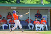 Cortland Crush George Haaland (34) hits the ball against the Rome Generals on Greg's Field at Beaudry Park in Cortland, New York on Saturday June 4, 2016. Cortland won 9-5.