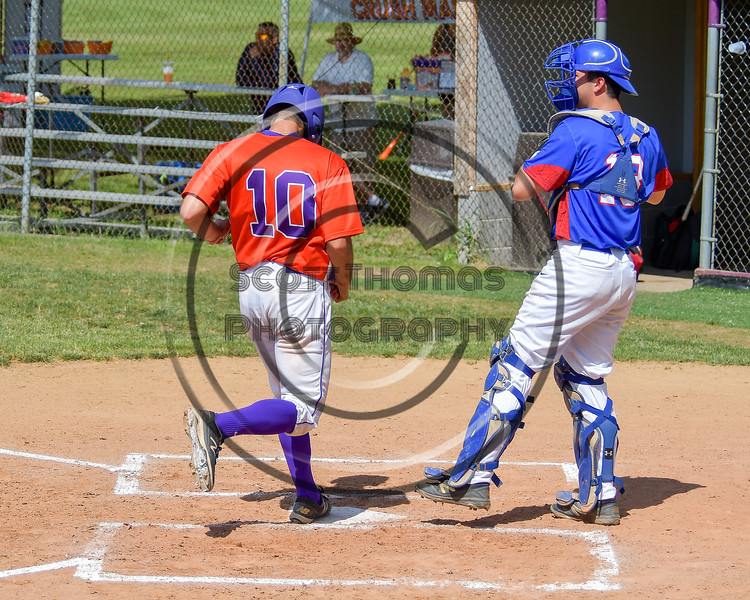 Cortland Crush Paul Ludden (10) scorres a run against the Rome Generals on Greg's Field at Beaudry Park in Cortland, New York on Saturday June 4, 2016. Cortland won 9-5.