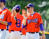 Cortland Crush Stephan Witkowski (17) celebrates his win over the Rome Generals on Greg's Field at Beaudry Park in Cortland, New York on Saturday June 4, 2016. Cortland won 9-5.