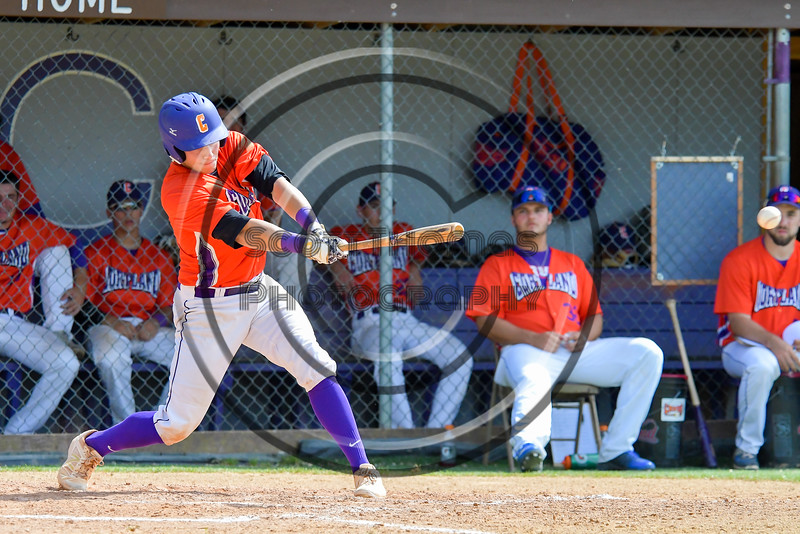 Cortland Crush Anthony Searles (2) hits the ball against the Rome Generals on Greg's Field at Beaudry Park in Cortland, New York on Saturday June 4, 2016. Cortland won 9-5.