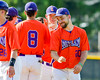 Cortland Crush Tommy Seaver (20) celebrates a win over the Rome Generals on Greg's Field at Beaudry Park in Cortland, New York on Saturday June 4, 2016. Cortland won 9-5.