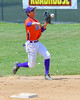 Cortland Crush Josua Lopez (21) warming up before playing the Rome Generals on Greg's Field at Beaudry Park in Cortland, New York on Saturday June 4, 2016.