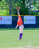 Cortland Crush David Murphy (8) just misses a line drive by a Rome Generals player on Greg's Field at Beaudry Park in Cortland, New York on Saturday June 4, 2016. Cortland won 9-5.