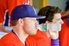 Cortland Crush Aaron Edelmon (62) hydrating before playing  the Rome Generals on Greg's Field at Beaudry Park in Cortland, New York on Saturday June 4, 2016.