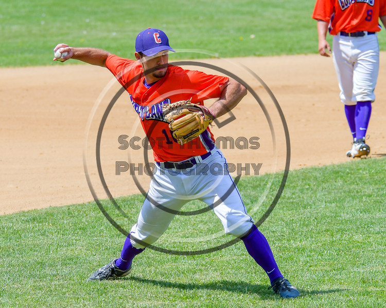 Cortland Crush Paul Ludden (10) warming up before playing the Rome Generals on Greg's Field at Beaudry Park in Cortland, New York on Saturday June 4, 2016.