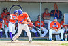 Cortland Crush Broderick Santilli (3) reaches out for a hit against the Rome Generals on Greg's Field at Beaudry Park in Cortland, New York on Saturday June 4, 2016. Cortland won 9-5.
