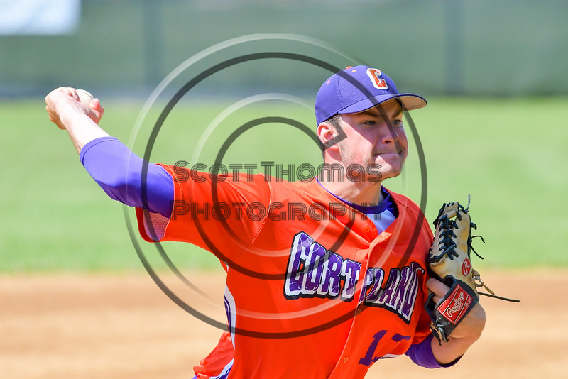 Cortland Crush Stephan Witkowski (17) pitching against the Rome Generals on Greg's Field at Beaudry Park in Cortland, New York on Saturday June 4, 2016. Cortland won 9-5.