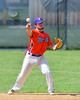 Cortland Crush Greg Mula (1) throw the ball to First Base for an out against the Rome Generals on Greg's Field at Beaudry Park in Cortland, New York on Saturday June 4, 2016. Cortland won 9-5.