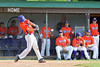 Cortland Crush Evan Moore (13) hits the ball against the Rome Generals on Greg's Field at Beaudry Park in Cortland, New York on Saturday June 4, 2016. Cortland won 9-5.