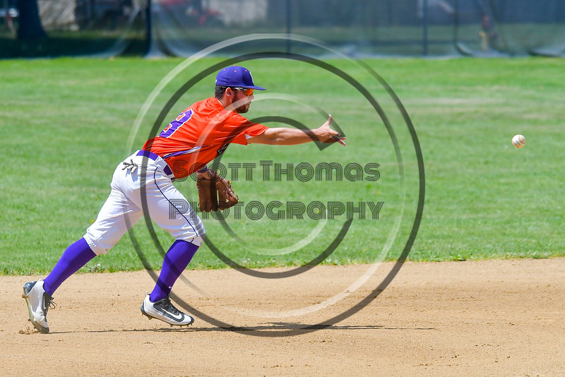 Cortland Crush David Murphy (8) warming up before playing the Rome Generals on Greg's Field at Beaudry Park in Cortland, New York on Saturday June 4, 2016.