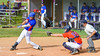 Cortland Crush Catcher Evan Moore (13) receives the ball as the Rome Generals player swings and misses on Greg's Field at Beaudry Park in Cortland, New York on Saturday June 4, 2016. Cortland won 9-5.