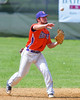Cortland Crush Greg Mula (1) throws the ball for an out at First Base against the Rome Generals on Greg's Field at Beaudry Park in Cortland, New York on Saturday June 4, 2016. Cortland won 9-5.