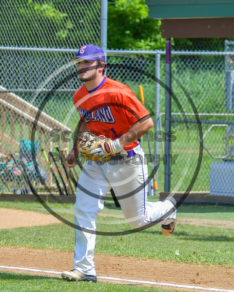 Cortland Crush Greg Mula (1) takes the field before playing the Rome Generals on Greg's Field at Beaudry Park in Cortland, New York on Saturday June 4, 2016.