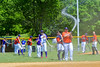 Cortland Crush Tyler Saundry (35) watering down the infield before playing the Rome Generals on Greg's Field at Beaudry Park in Cortland, New York on Saturday June 4, 2016.