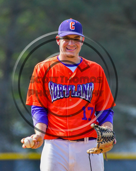 Cortland Crush Stephan Witkowski (17) on the mound against the Rome Generals on Greg's Field at Beaudry Park in Cortland, New York on Saturday June 4, 2016. Cortland won 9-5.