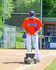 Cortland Crush Tommy Seaver (20) lining the first base line before a game against the Rome Generals on Greg's Field at Beaudry Park in Cortland, New York on Saturday June 4, 2016.