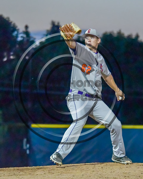 Cortland Crush Aaron Edelmon (62) pitching against the Syracuse Salt Cats at OCC Turf Field in Syracuse, New York on Monday, June 6, 2016. Cortland won 4-2.