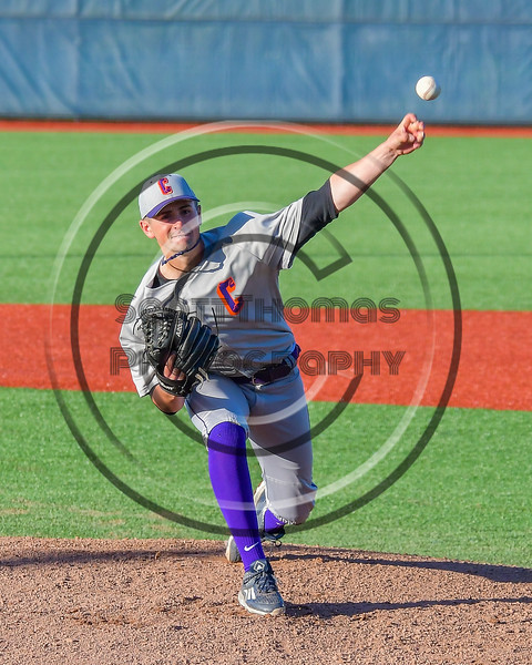 Cortland Crush Dylan Leahy (22) on the mound against the Syracuse Salt Cats at OCC Turf Field in Syracuse, New York on Monday, June 6, 2016. Cortland won 4-2.