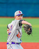 Cortland Crush Dylan Leahy (22) pitching against the Syracuse Salt Cats at OCC Turf Field in Syracuse, New York on Monday, June 6, 2016. Cortland won 4-2.