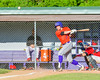 Cortland Crush Luke Gilbert (5) hits the ball against the Capitol City Reds on Greg's Field at Beaudry Park in Cortland, New York on Thursday, June 9, 2016. Capitol City won 4-2.