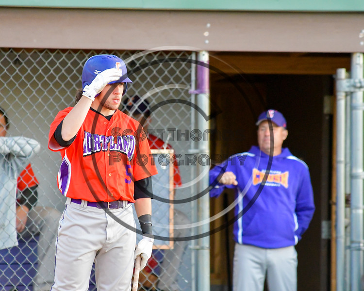 Cortland Crush Luke Gilbert (5) getting ready for his at bat against the Capitol City Reds on Greg's Field at Beaudry Park in Cortland, New York on Thursday, June 9, 2016. Capitol City won 4-2.