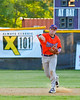 Cortland Crush Patrick Messinger (14) throws the ball against the Capitol City Reds on Greg's Field at Beaudry Park in Cortland, New York on Thursday, June 9, 2016. Capitol City won 4-2.