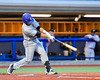 Cortland Crush David Murphy (8) hits the ball against the Syracuse Salt Cats at OCC Turf Field in Syracuse, New York on Wednesday, June 15, 2016. Cortland won 5-2.