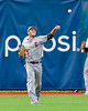 Cortland Crush Broderick Santilli (3) throws the ball from the outfield against the Syracuse Salt Cats at OCC Turf Field in Syracuse, New York on Wednesday, June 15, 2016. Cortland won 5-2.