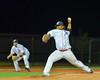 Syracuse Salt Cats JonPaul Ramirez (27) pitching against the  Cortland Crush at OCC Turf Field in Syracuse, New York on Wednesday, June 15, 2016. Cortland won 5-2.