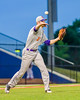 Cortland Crush Cody Shelton (11)throwing out the runner at First Base against the Syracuse Salt Cats at OCC Turf Field in Syracuse, New York on Wednesday, June 15, 2016. Cortland won 5-2.