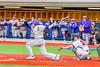 Cortland Crush Derek Martin (29) follows his hit against the Syracuse Salt Cats at OCC Turf Field in Syracuse, New York on Wednesday, June 15, 2016. Cortland won 5-2.
