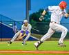 Cortland Crush Cody Shelton (11) fields the ball against the Syracuse Salt Cats at OCC Turf Field in Syracuse, New York on Wednesday, June 15, 2016. Cortland won 5-2.