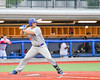 Cortland Crush Andrew Taft (32) staring down a pitch against the Syracuse Salt Cats at OCC Turf Field in Syracuse, New York on Wednesday, June 15, 2016. Cortland won 5-2.