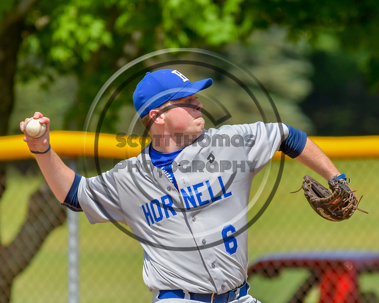 Hornell Dodgers Connor Ryan (6) pitching against the  Cortland Crush on Greg's Field at Beaudry Park in Cortland, New York on Saturday, June 18, 2016. Hornell won 11-3.