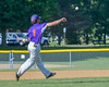 Cortland CrushGreg Mula (1) throws the ball to First Base for an out against the Hornell Dodgers on Greg's Field at Beaudry Park in Cortland, New York on Saturday, June 18, 2016. Hornell won 11-3.