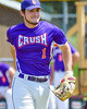 Cortland Crush Greg Mula (1) being introduced before playing the Hornell Dodgers on Greg's Field at Beaudry Park in Cortland, New York on Saturday, June 18, 2016.