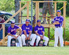 Cortland Crush coaching staff before playing the Hornell Dodgers on Greg's Field at Beaudry Park in Cortland, New York on Saturday, June 18, 2016. Hornell won 11-3.