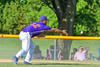 Cortland Crush Andrew Taft (32) tosses the ball to First Base for an out against the Hornell Dodgers on Greg's Field at Beaudry Park in Cortland, New York on Saturday, June 18, 2016. Hornell won 11-3.